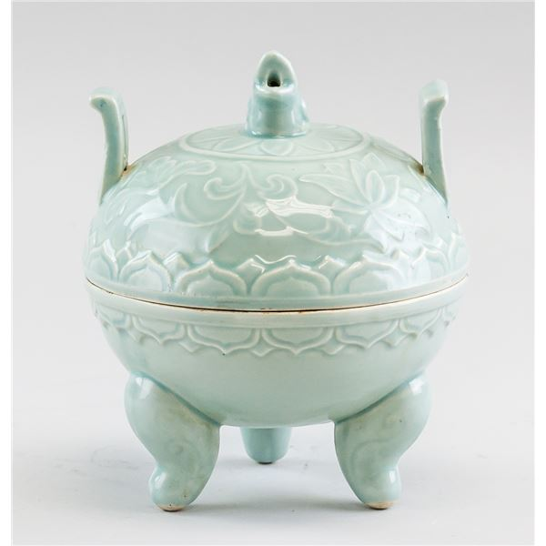 Chinese Song Style Guan Porcelain Tripod Censer