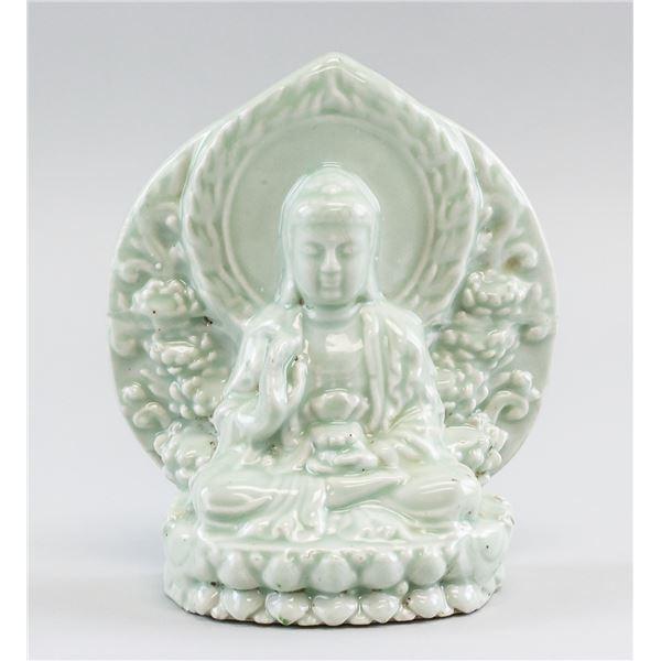 Chinese Republic Porcelain Guanyin Statue