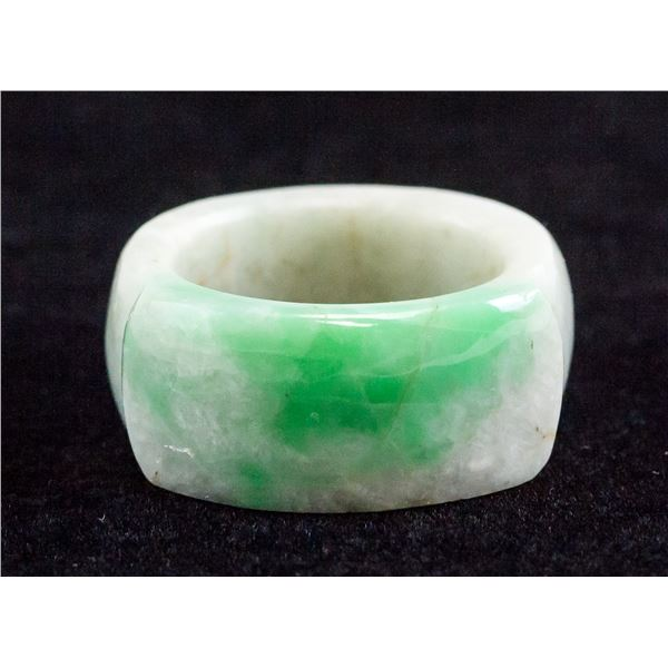 Chinese Green Jadeite Ring