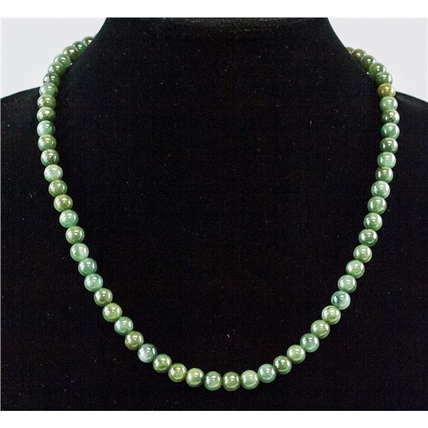Chinese Jadeite Necklace with Certificate
