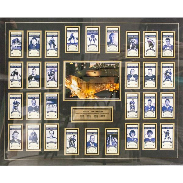 Framed Set of Maple Leaf Hockey Legends VIP 1/75