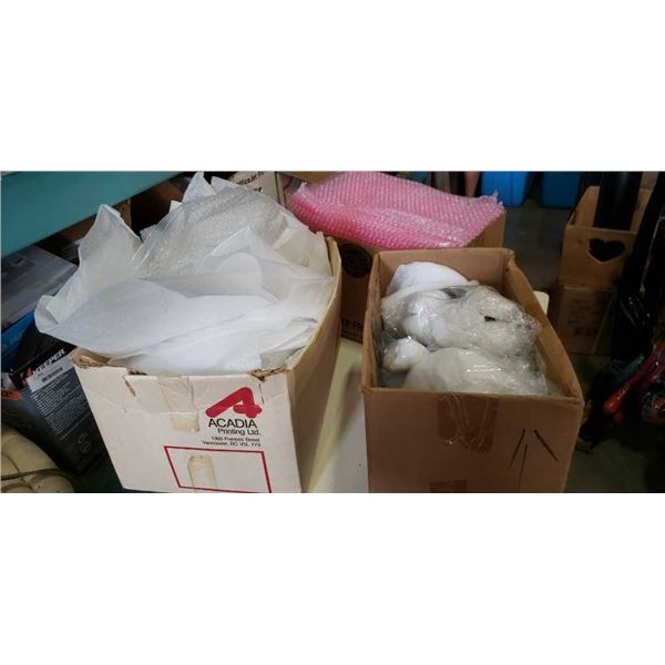 3 BOXES BUBBLE WRAP BAGS, PACKING MATERIAL