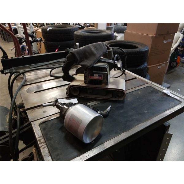 Craftsman belt sander and speedaire sprayer