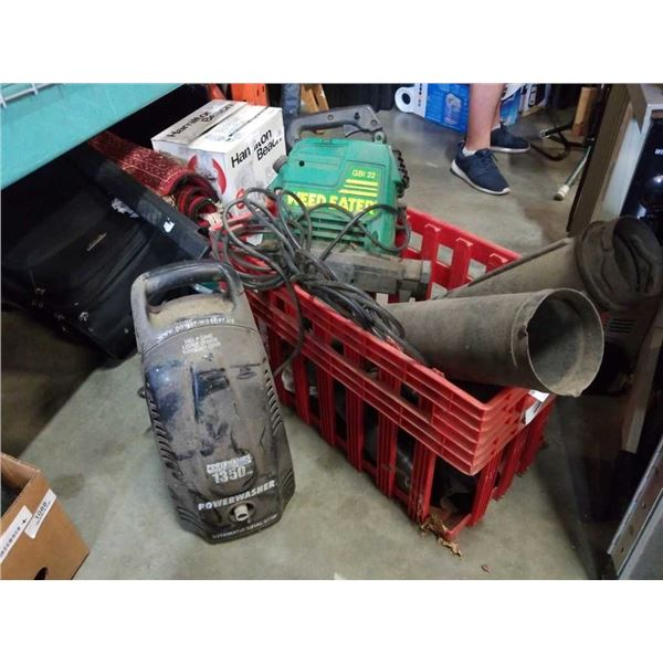 POWER WASHER AND WEEDEATER GAS BLOWER