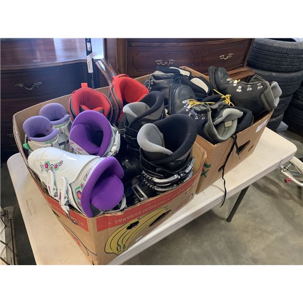 2 BOXES SKI AND SNOWBOARD BOOTS