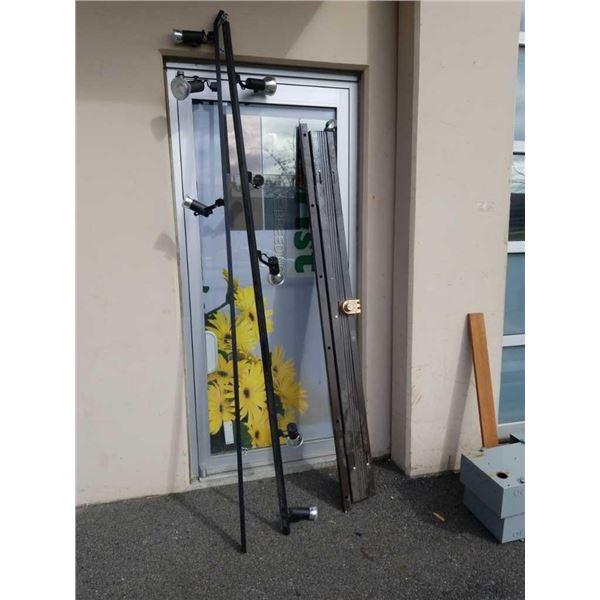 Security lighting and security accordion door