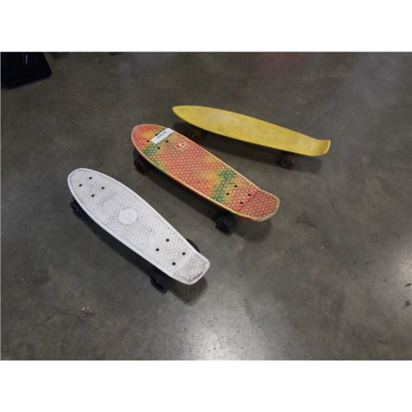 GLOBE AND 2 OTHER MINI SKATEBOARDS