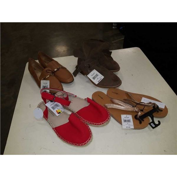 4 pairs of as new ladies size 8 footwear