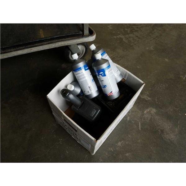 Box of Volvo console shift, radio and VM compound polish
