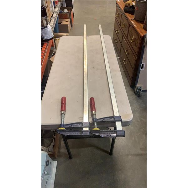 2 RICHA CLAMPS 63 INCHES LONG