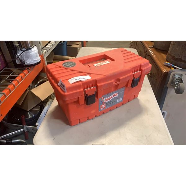 HOMER BOX TOOLBOX WITH TOOLS, CONTENTS