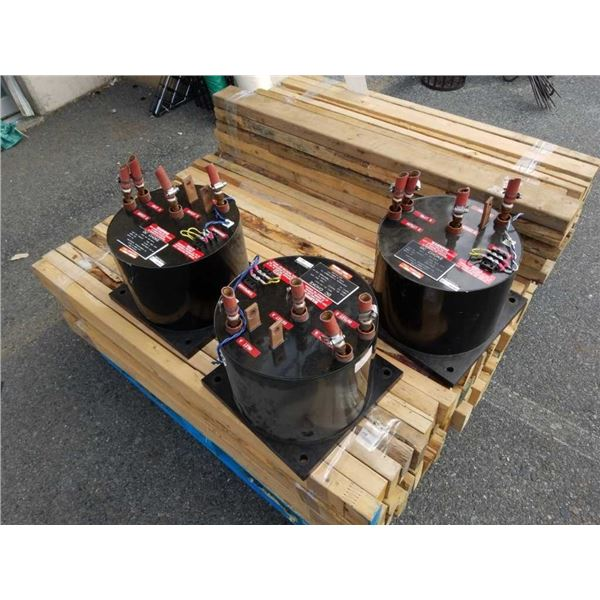 3 large heavy DC choke Transformers with copper tips