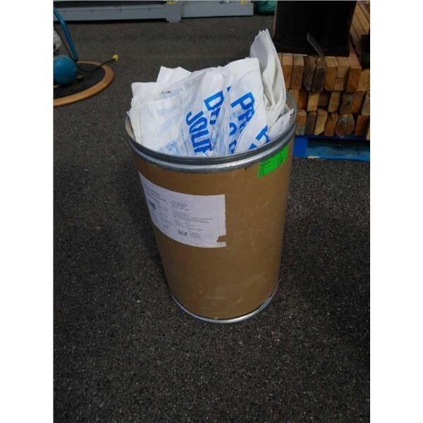 Bucket of plastic bags