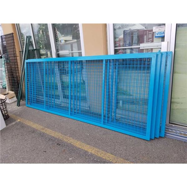 Four sections of metal cage panels 119 in by 45 in