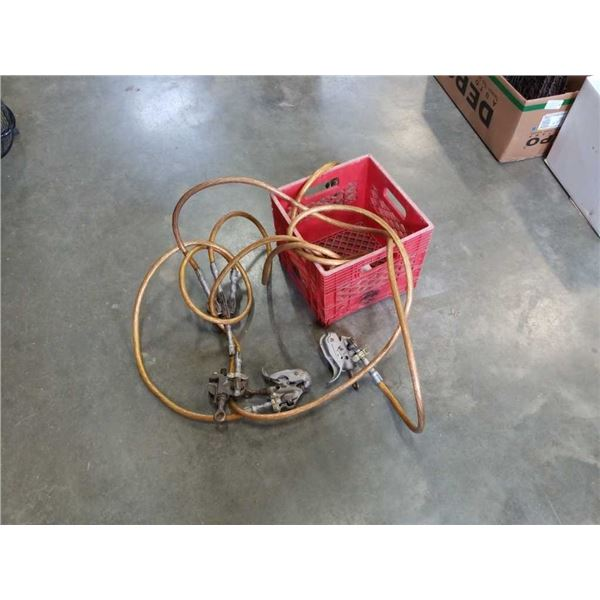 Crate of high-voltage ground cable and clamps