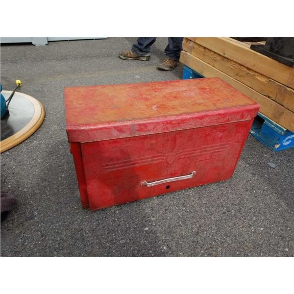 Large red Beach toolbox