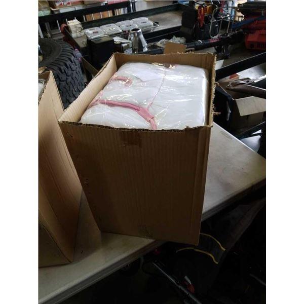 Box of new girl baby bumbos