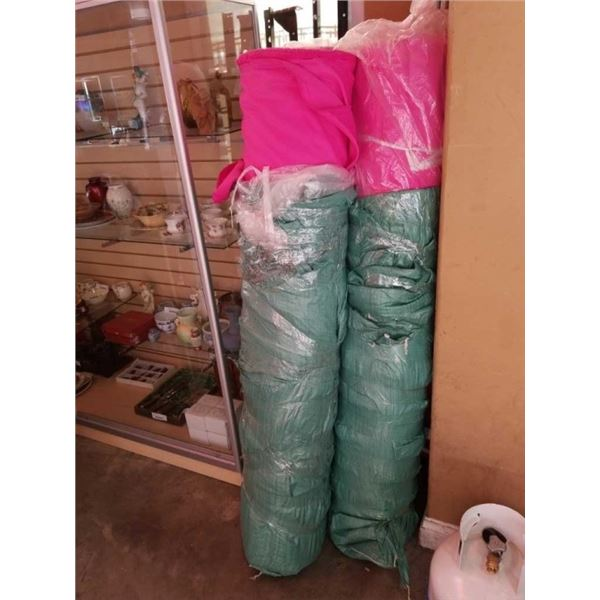 100 yard roll of 5ft wide pink fabric