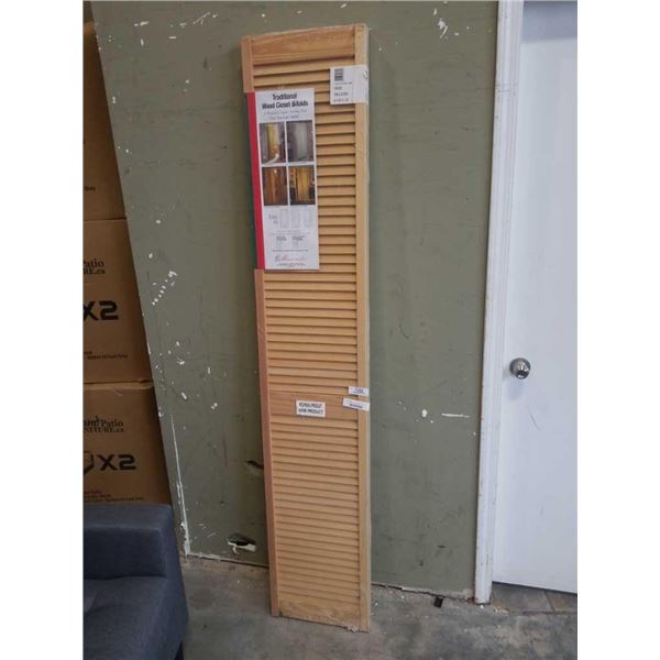 "new masonite bi-fold shutter door 30""x80"""