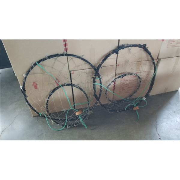 2 WEIGHTED SHELLFISH TRAPS