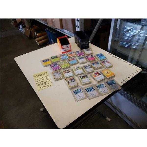 1100 POKEMON CARDS - 4 RARE LUGIA CARDS 1 IS REVERSE RARE