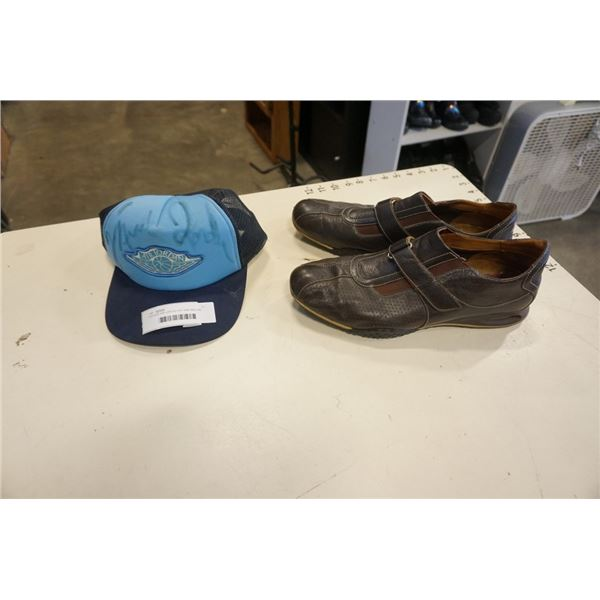 VINTAGE AIR JORDAN HAT AND NIKE AIR LEATHER SHOES