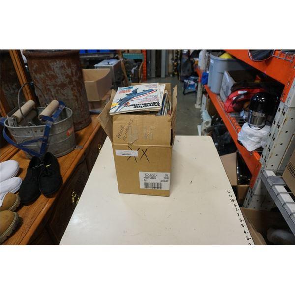 Box of popular mechanics magazines