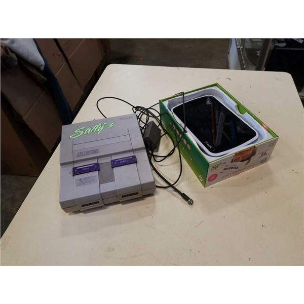 Leap frog tablet and SNES system