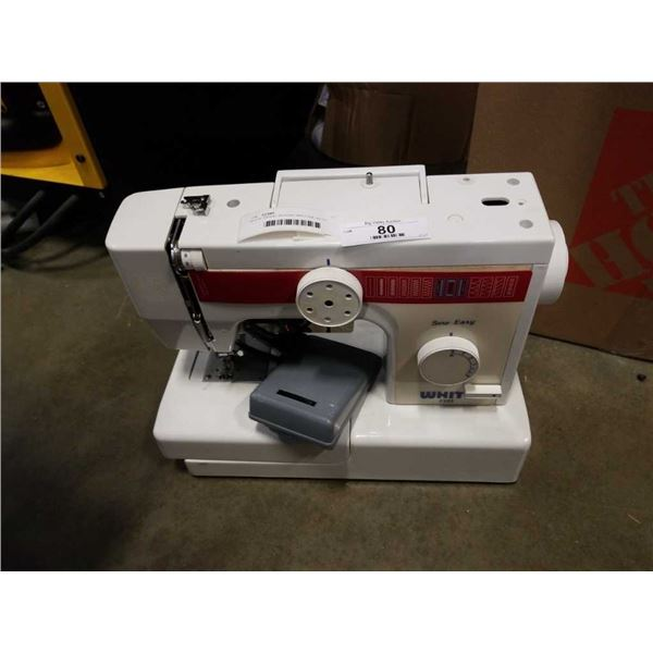 WHITE BRAND SEWING MACHINE WITH PEDAL