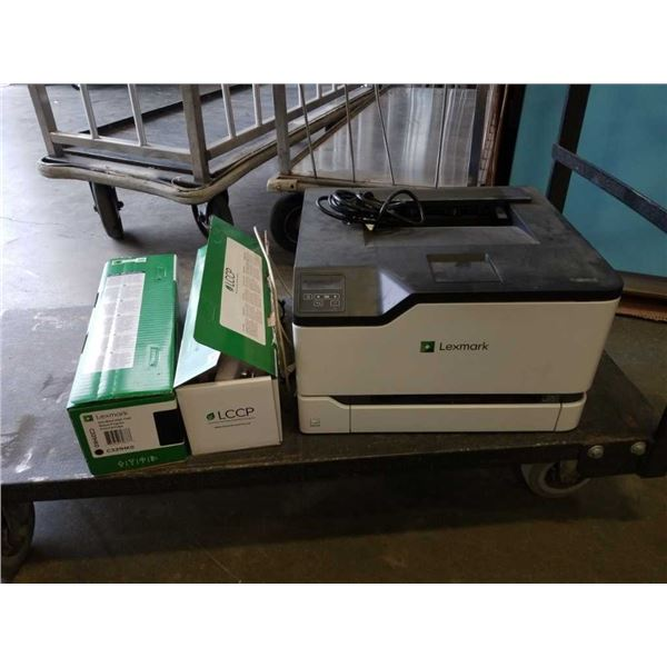 LEXMARK C3326 PRINTER NEEDS SOFTWARE SERVICE WITH 2 BOXES OF TONER ONE IS NEW
