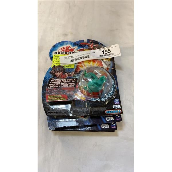BAKUGAN NEW UNOPENED BOOSTER PACKS AND 5 CARD BOOSTER PACKS