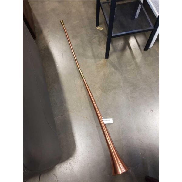 4 FOOT COPPER AND BRASS HORN