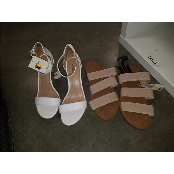 New ladies size 7 heels and flat shoes