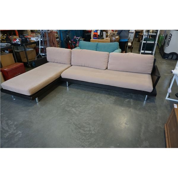 WOOD PILLOWBACK SECTIONAL
