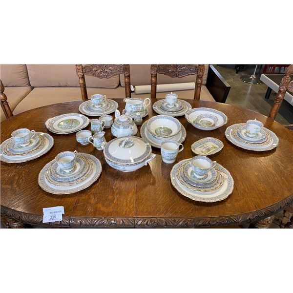 "54 PIECES OF ROYAL ALBERT SILVER BIRCH CHINA - 6 PIECE 6 PLACE SETTING - MISSING 1  7"" PLATE, TEA PO"
