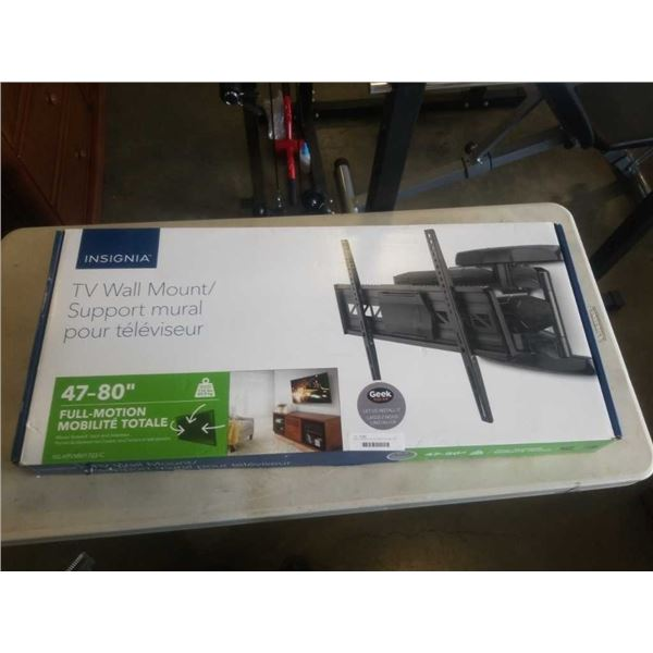 NEW OVERSTOCK 47-80 INCH FULL MOTION TV WALL MOUNT - 110 LB CAPACITY