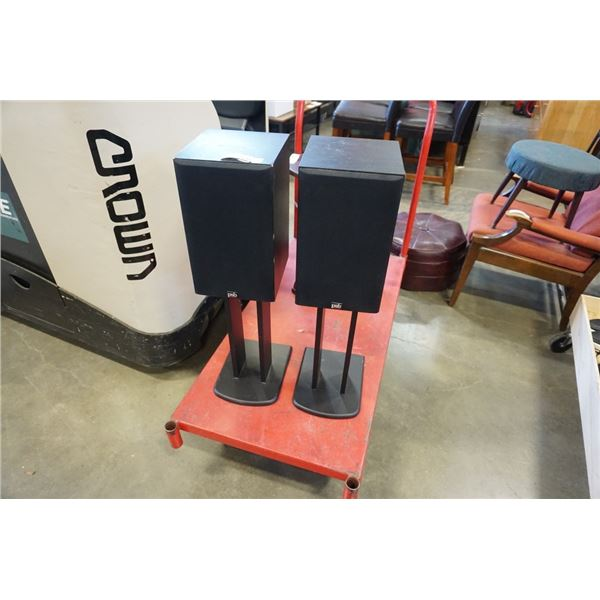 PAIR OF PSB BOOKSHELF SPEAKERS AND STANDS
