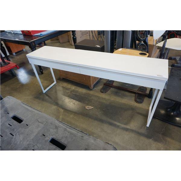 IKEA WHITE MODERN 2 DRAWER HALL TABLE