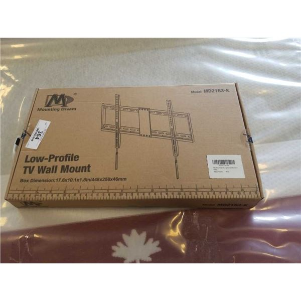 NEW LOW PROFILE TV WALL MOUNT