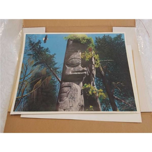 HAIDA POLE SIGNED ARTIST PROOF UNFRAMED PRINT AND PETE TOWNSHEND THE WHO PRINT