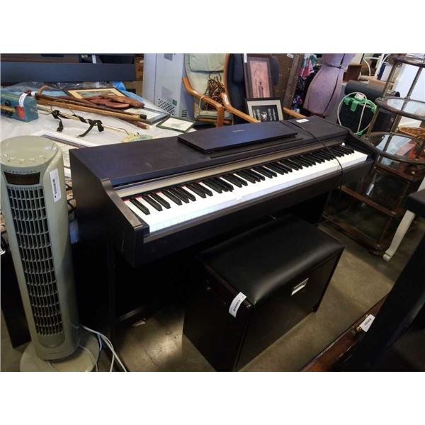 Yamaha YDP-213- 88-note, 64-voice polyphonic piano keyboard, with weighted action keys