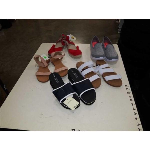 5 pairs of as new ladies size 9 footwear