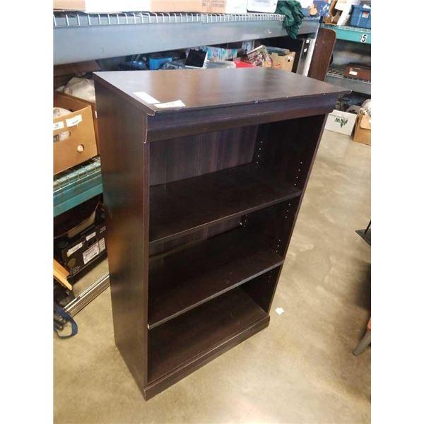 Brown storage shelving unit