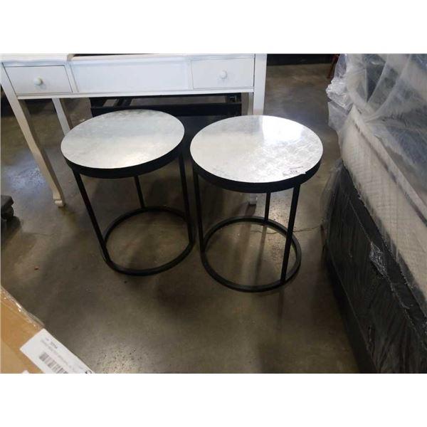 2 metal base endtables