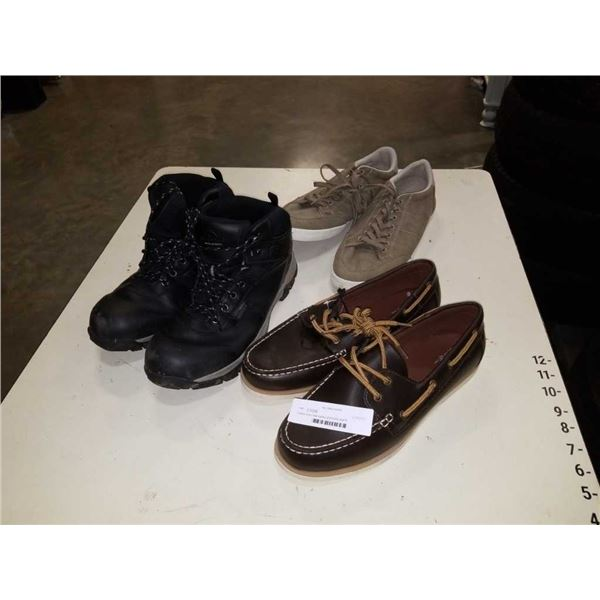 3 pairs of as new loafers and boots size10