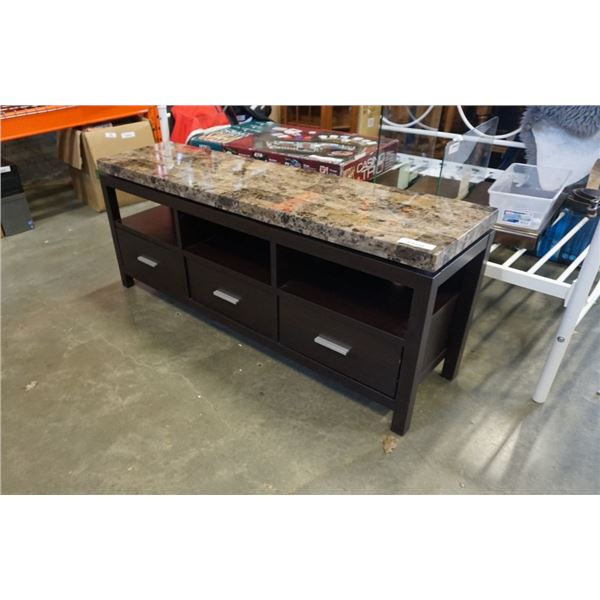 3 DRAWER MODERN SERVER - STONE LOOK TOP