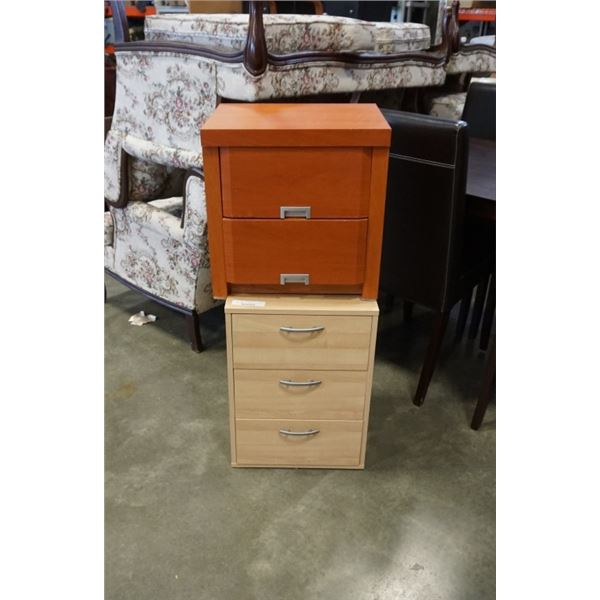 3 drawer endtable and 2 drawer nightstand