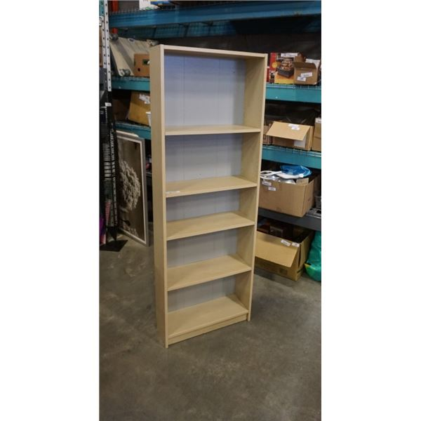 MAPLE BOOKSHELF APPX 77 INCHES TALL