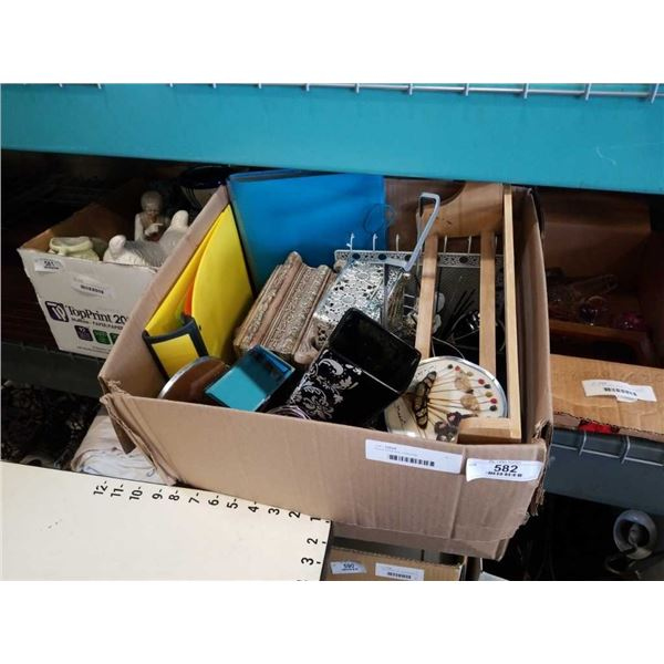 Box of office and collectibles