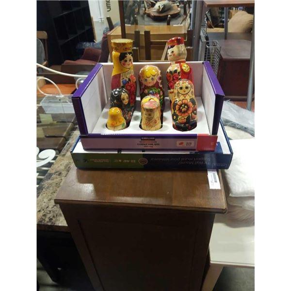 Box of russian nesting dolls
